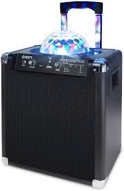 ion bluetooth speaker with lights ion audio block party live 50 watt portable bluetooth speaker system