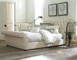 Black Leather Sleigh Bed Headboards White Upholstered Headboard And Footboard Full Size