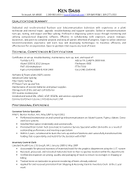 Sample Resume For Experienced Testing Professional by Sample Resume For Telecom Engineer Free Resume Example And