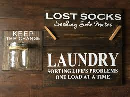 Etsy Laundry Room Decor laundry room signs lost socks sign keep the change sign