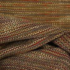 Wool Drapery Fabric Waverly Tabby Twilight Chenille Brown Red Blue Fabric
