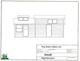 side elevation denali tiny house right side elevation tiny green cabins
