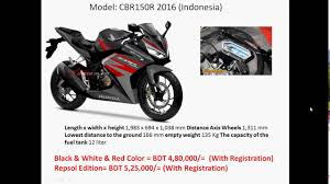 cbr rate in india 150cc motorcycle price in bangladesh best in price youtube