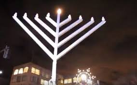 large menorah when bernie fought for a menorah at city the times of israel