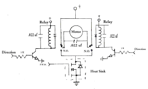 h bridge with spdt relays wiring diagram components