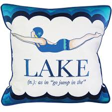 cute sayings for home decor retro lake diver pillow decorated with a pretty diving and