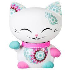 Tirelire Hello Kitty by Chat Porte Bonheur Maneki Neko Mani The Lucky Cat 11cm Blanc