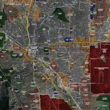 Colorado Map Images by Colorado Springs U2013 Rolled Aerial Map Landiscor Real Estate Mapping