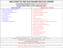 recycle center information u0026 hours sun prairie wi official