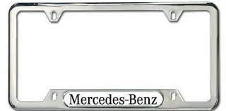 mercedes license plate holder mercedes polished stainless steel license plate frames
