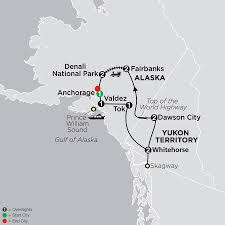 Skagway Alaska Map by Alaska U0026 The Yukon Tour Cosmos Budget Vacation