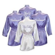 and bridesmaid robes set of 4 personalized bridesmaid satin robes at s