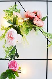 diy light faux flower garland little inspiration
