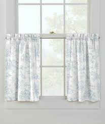Thermal Cafe Curtains Lenoxdale Toile Tier Curtains Country Curtains