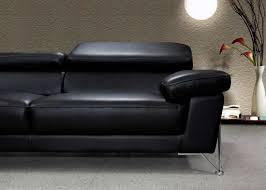 Black Modern Leather Sofa Amazing Modern Black Leather Sofa 68 For Modern Sofa Inspiration