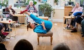 comedy in a care home the standups taking slapstick into new