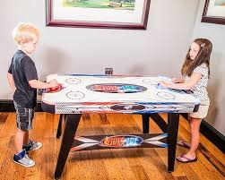 hockey time air hockey table triumph fire n ice led light up air hockey table airhockeyplace com