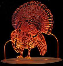 turkey thanksgiving light acrylic lighted edge lit led