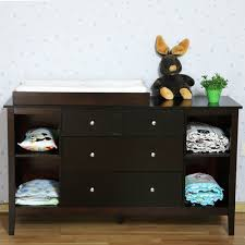 Buy Change Table Pine Wood Baby Change Table W 7 Drawers In Walnut Buy Baby