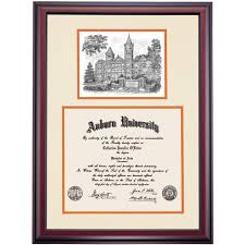 auburn diploma frame auburn premier samford pen and ink diploma frame diploma