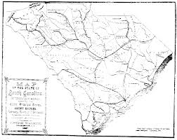 Black And White United States Map by The Usgenweb Archives Project South Carolina Maps