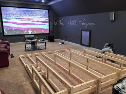 Media home theater riser DIY I would add running lights under