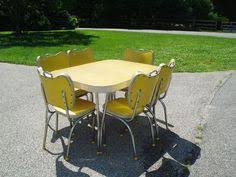 retro yellow kitchen table mustard yellow chair chair dining metalcraft retro magical