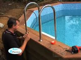 how to install a wooden pool part 10 13 stainless steelladder