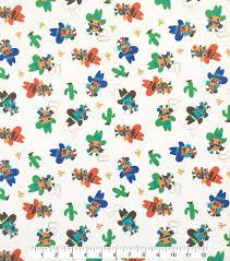 cowboy wrapping paper doodles juvenile apparel fabric 57 cowboy owls interlock joann