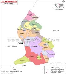 Map Of Switzerland And Germany by Liechtenstein Map Map Of Liechtenstein