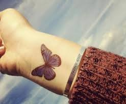 butterfly wrist pencil and in color butterfly wrist