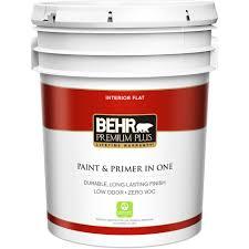 Home Depot Interior Paint Brands Behr Premium Plus 1 Gal Ultra Pure White Semi Gloss Enamel Zero