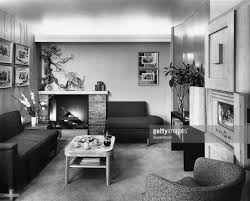 interior of living room 1950s style stock photo getty images