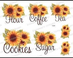sunflower kitchen canisters sunflower kitchen etsy