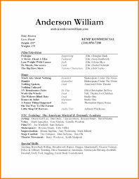 Theatrical Resume Sample by Actor Resume Template Teller Resume Sample