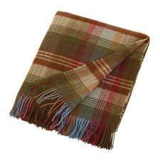 Brown Tartan Rug Buy Mulberry Home Ancient Tartan Lambswool Blanket 155x180cm Amara