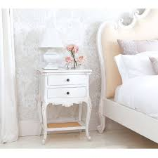 bedroom fascinating white french bedside table design with drawers