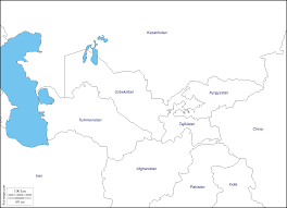 blank map of central asia and afghanistan blank map of central