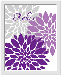 Gray And Purple Bathroom by 100 Purple Flower Wall Art 125 Best Bloom Again Metal Art