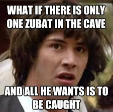 There Can Only Be One Meme - new what if there is only one zubat in the cave and all he wants is