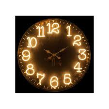 Horloge Murale Ronde Blanche Avec Murale Ronde D91 5cm Style Design Avec Chiffres à Led Lumineux