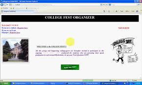 college fest organizer java project youtube