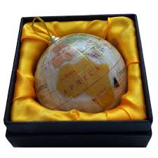 magellan 3 gemstone globe ornament
