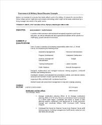 Military Resume Example by Sample Resume 34 Documents In Pdf Word