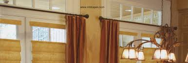 decorating interesting bay window curtain rod with tropical