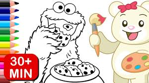 cookie monster sesame street coloring pages kids