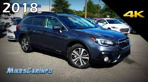subaru outback 2018 white 2018 subaru outback limited detailed look in 4k youtube