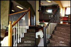 Refinish Banister Refinishing Hand Railings Kansas City Kitchen Cabinet Restyling
