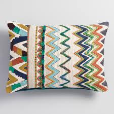 zigzag velvet lumbar pillow world market