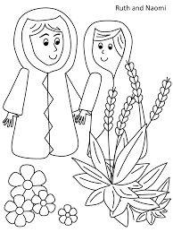 ruth naomi coloring children u0027s bible lessons coloring